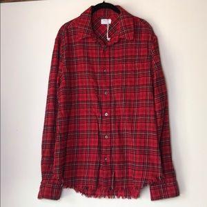 Frame plaid button shirt size Large